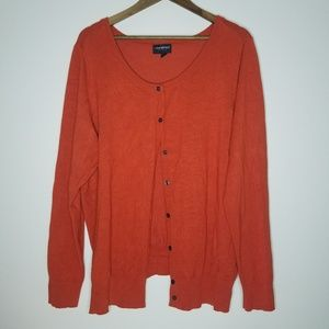 Lane Bryant Burnt Orange Button Front Cardigan